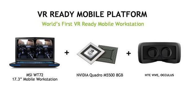 英伟达发布支持VR笔记本显卡Quadro M5500