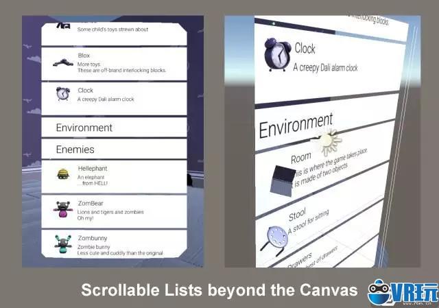 Unity Labs|可用于VR环境的列表视图框架
