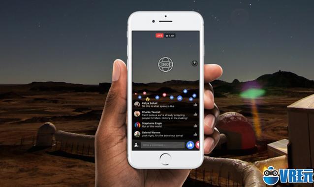 Facebook 联合国家地理,推出 360度直播服务