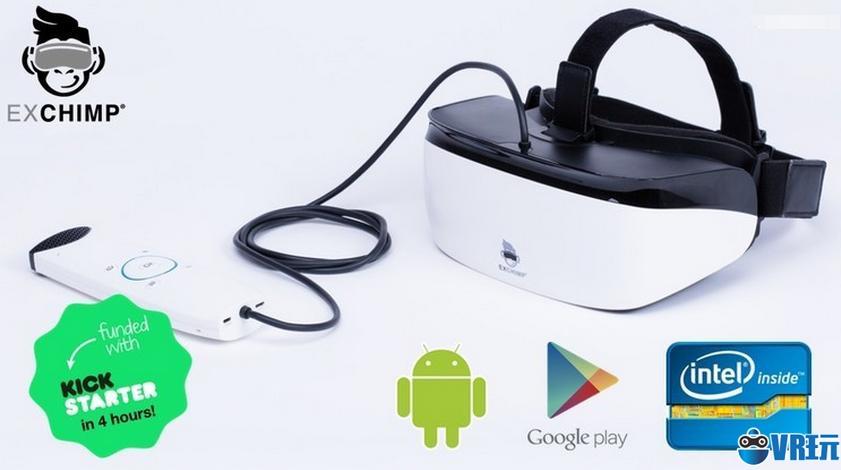 移动VR头显EXCHIMP成功众筹70万欧元,主打低成本高品质