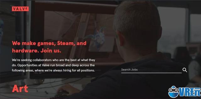 Valve新版官网上线明确表示致力于VR开发